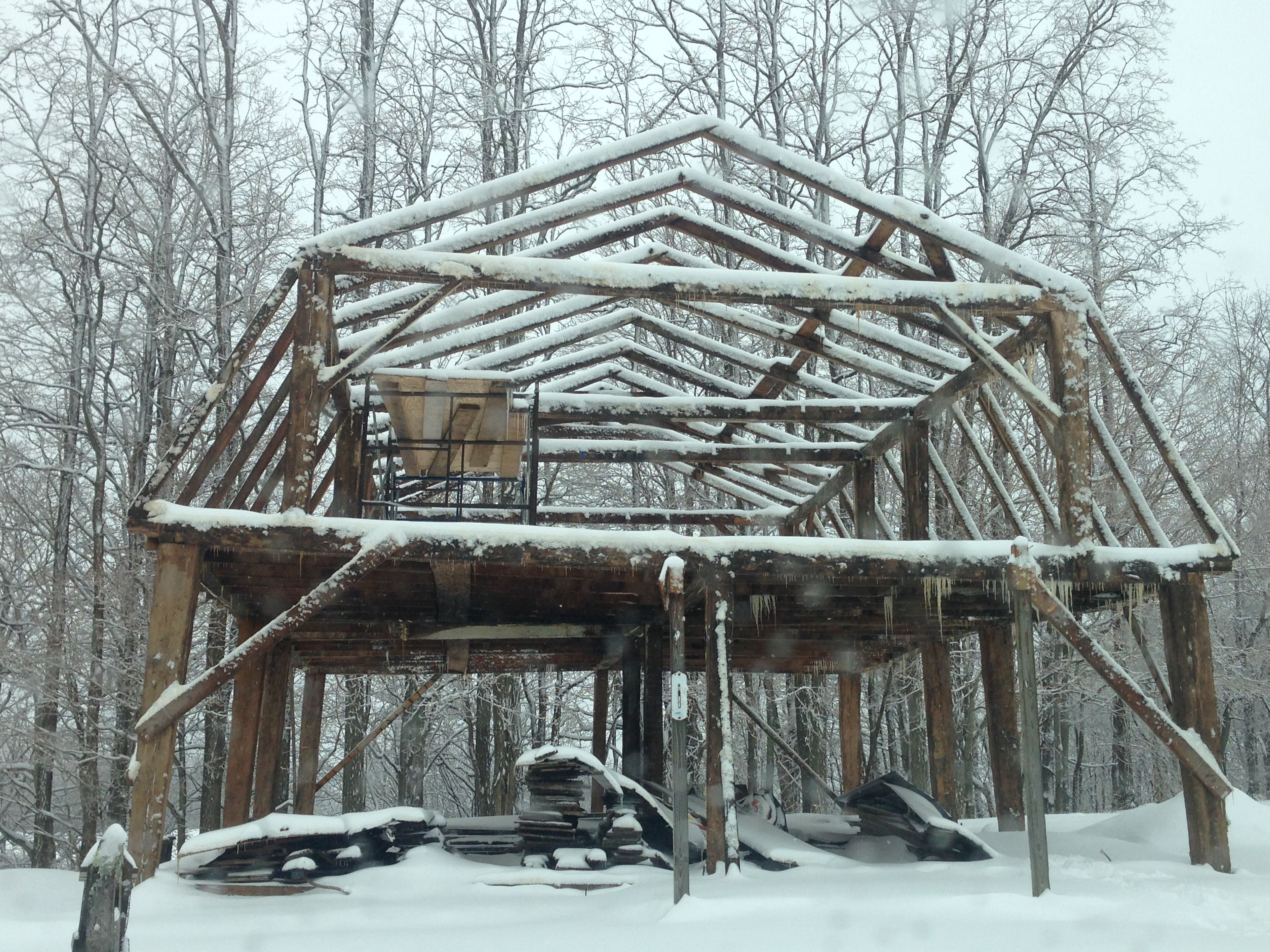 Timber Frame House With Gambrel Roof Gambrel Roofing