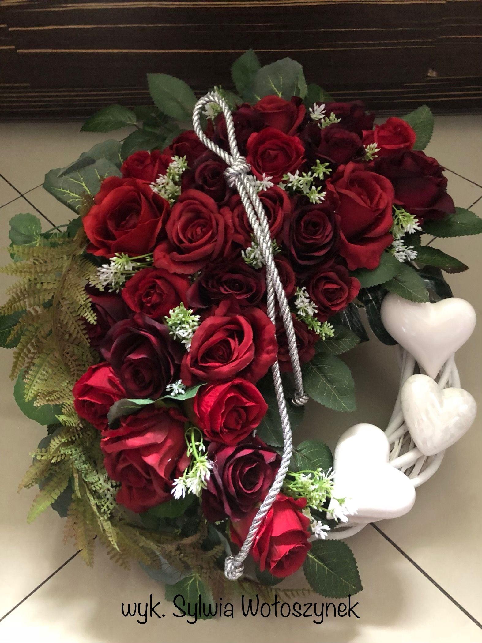 Kompozycja Nagrobna 2018 Wyk Sylwia Woloszynek Funeral Flowers Flower Arrangements Grave Decorations