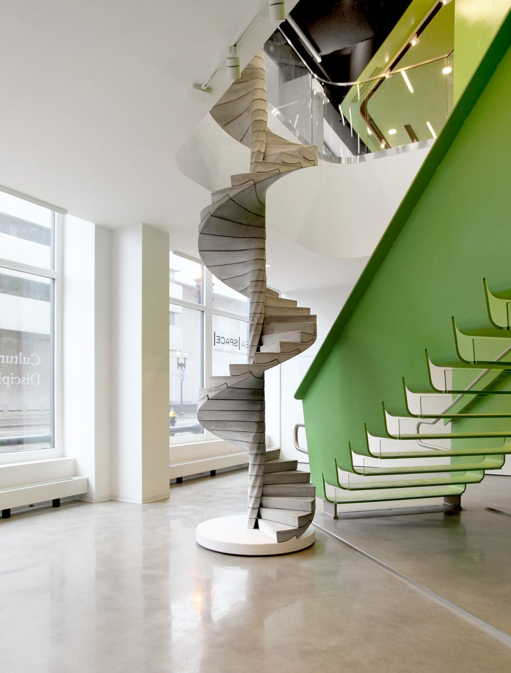 Best Gallery Of Matter Design S Helix Stair Takes Concrete To 400 x 300