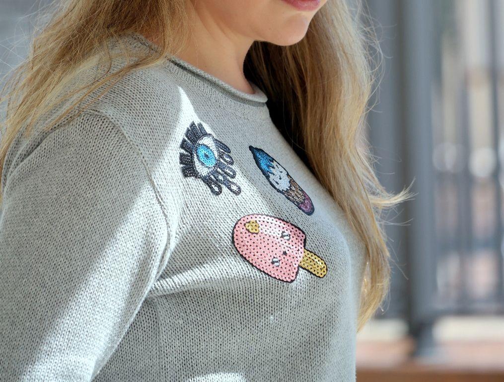 tricots bordados e estampados