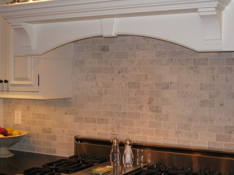 Tumbled Marble Subway Tiles Marble Backsplash Kitchen Subway