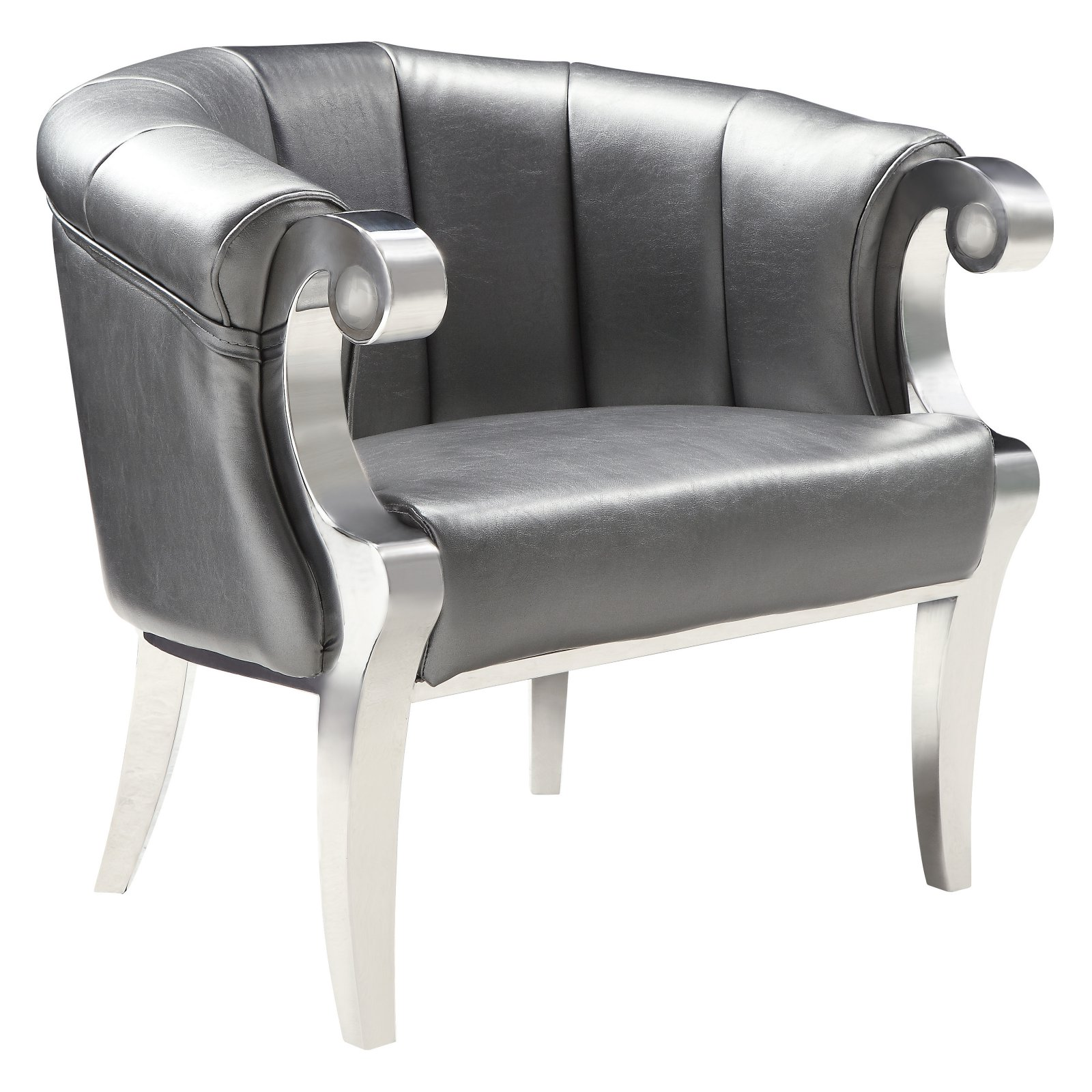 Stupendous Coaster Furniture Metal Barrel Accent Chair Products In Uwap Interior Chair Design Uwaporg
