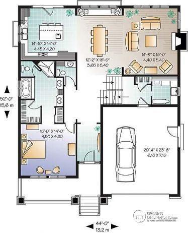 Détail du plan de Maison unifamiliale W3441 Projet plans