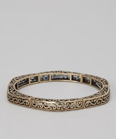 Take a look at this Bronze Filigree Stretch Bracelet by Barse on #zulily today!