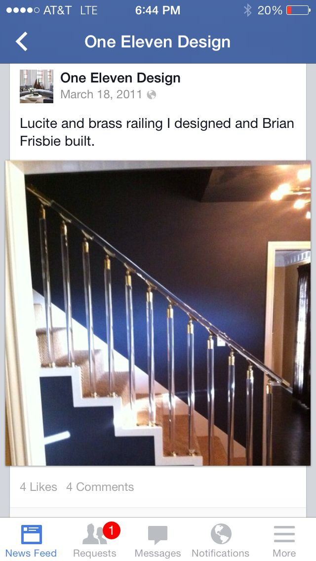 Best Lucite And Brass Railing By Joel Mozersky Railing 400 x 300