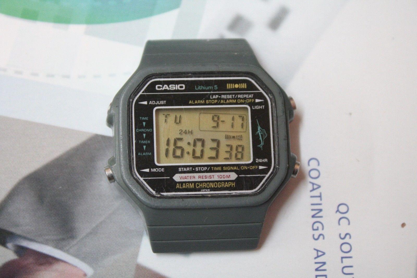 8bf5bd736221b VINTAGE CASIO 106 H110 MARLIN CHRONO ALARM LCD WATCH RARE!!!!!! #watch  #rare #alarm #chrono #casio #marlin #vintage
