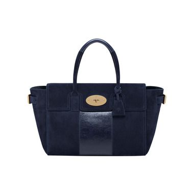 f2bc1b3aaaa2 Mulberry - Bayswater Buckle in Midnight Blue With Calf Stripe