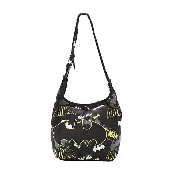 Dc Comics Batman Logo Collage Hobo Bag Hot Topic 20 Liked On