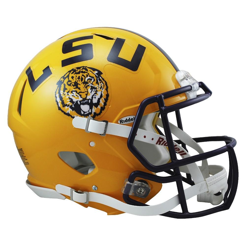 Lsu Tigers Riddell Speed Authentic Helmet - Gold