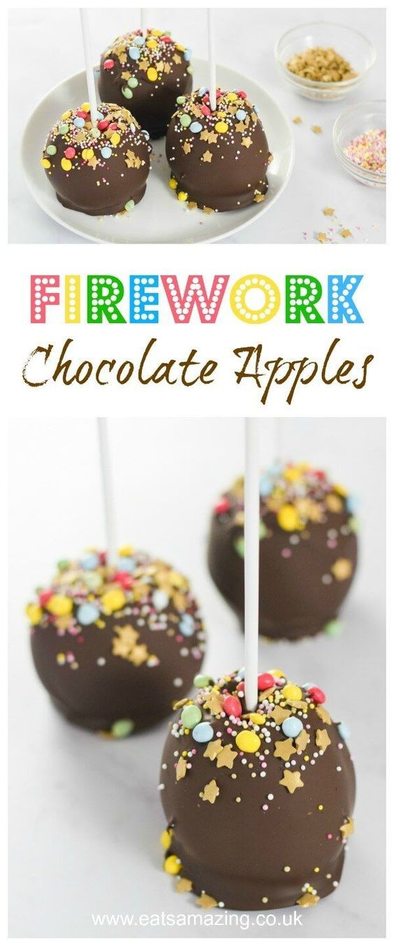 Firework Dark Chocolate Dipped Apples | Recipe | Chocolate ...