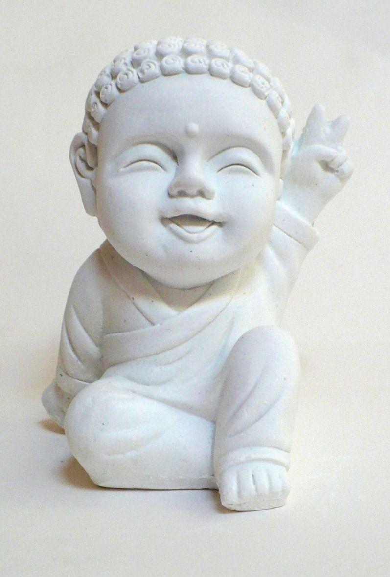 Pieza De Yeso. Buda Bebe Rulitos De La Paz | Yeso, La paz y Paz