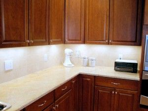 Chris, Our VP, Installed Our Xenon Under Cabinet Task Lights In His House  And