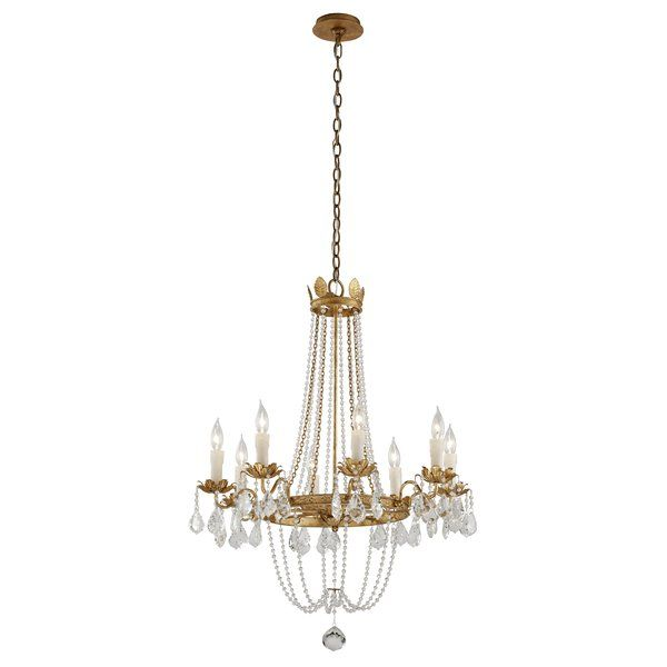 Astoria grand welcher 8 light crystal chandelier wayfair