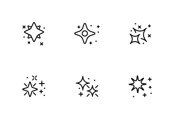 Glowing Shine Stars Icons By Vector Win In 2020 Business Icons Design Glow Shine