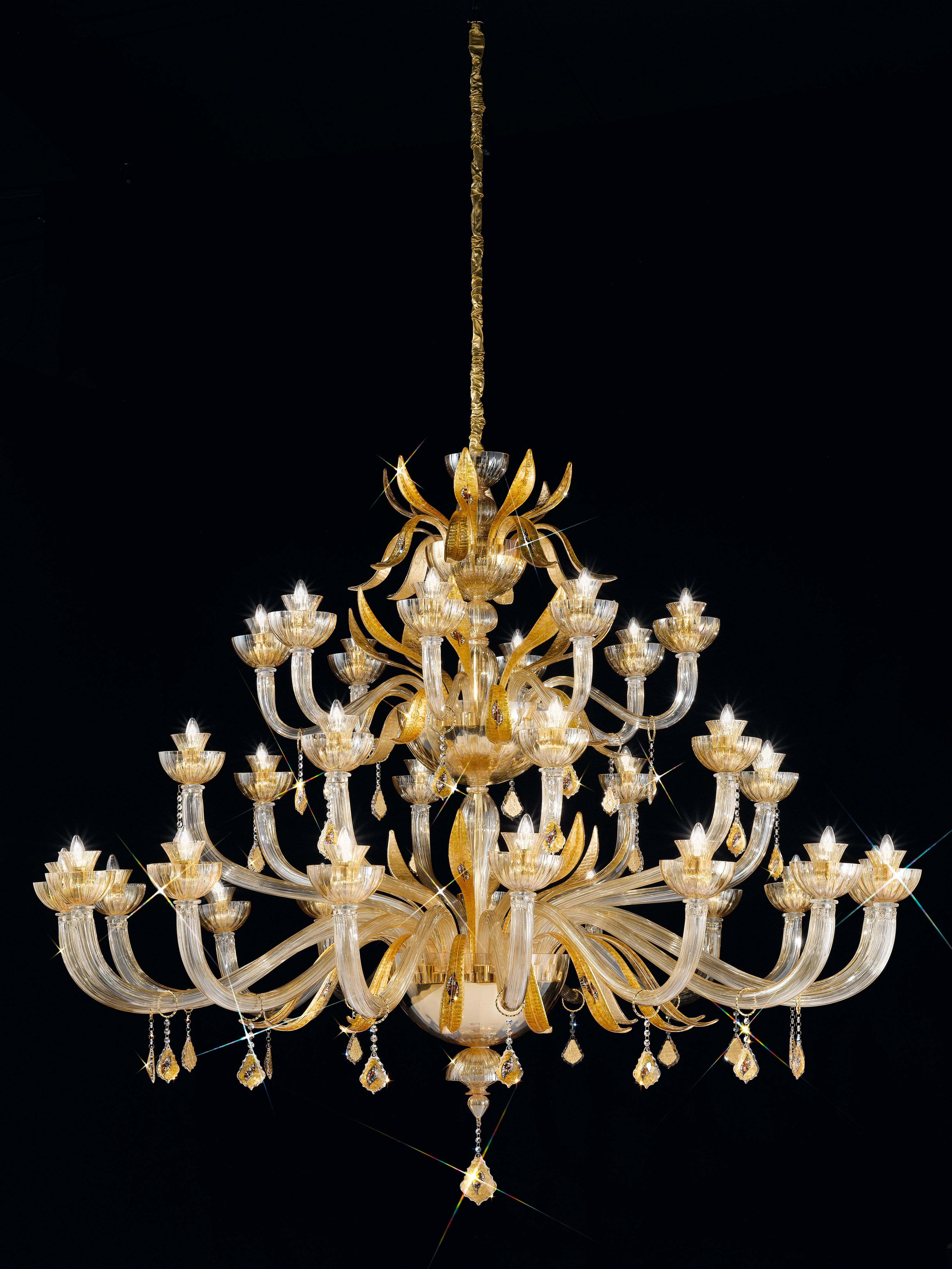 One of our showstopping crystal 24ct gold plated bespoke one of our showstopping crystal 24ct gold plated bespoke chandeliers a recent projects arubaitofo Images