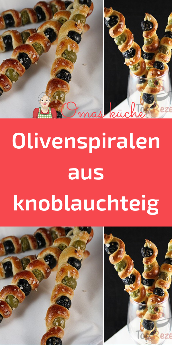 Photo of Olivenspiralen aus knoblauchteig