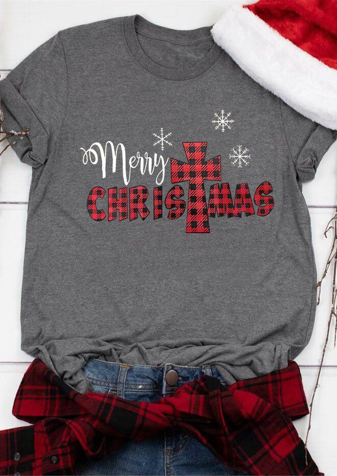 Christmas Begins With Christ Leopard Plaid Printed TShirt