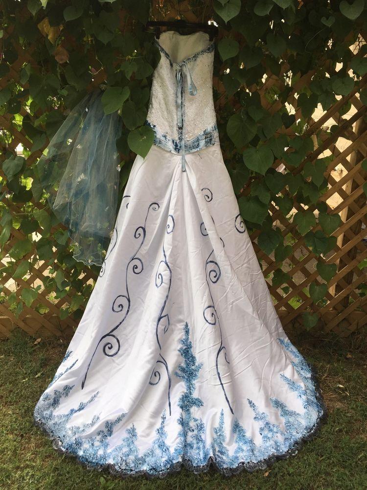 The Corpse Bride Inspired Halloween Costume Wedding Dress OOAK Hand ...