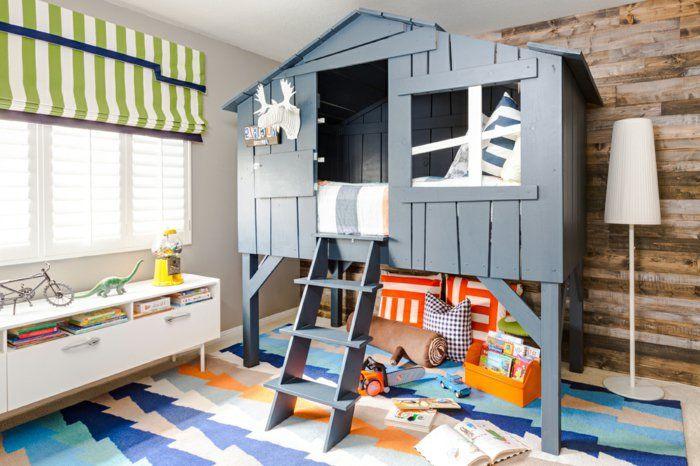 Jungen Zimmer jungenzimmer gestalten tolle deko bett in form haus gestaltet