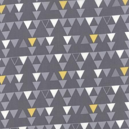 Color Theory--Triangles in Grey---1 yard--V and Co for Moda Fabrics