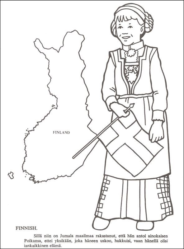 from the missionary coloring book. $2.75. Has 25 countries
