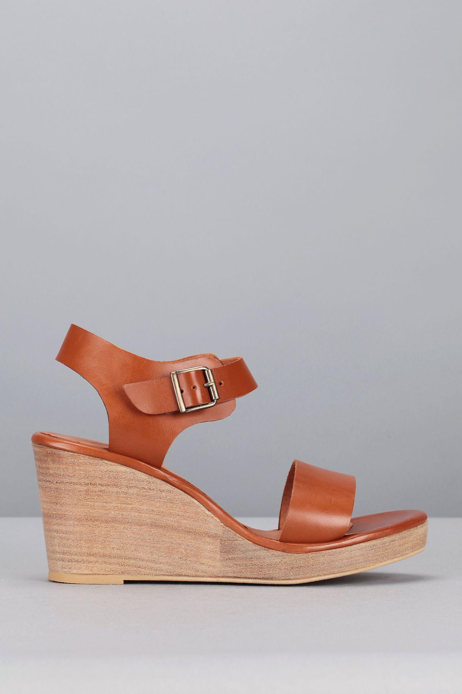 Chaussures TeaPassion Sandales Camel Cuir Compensées OPuZTXki