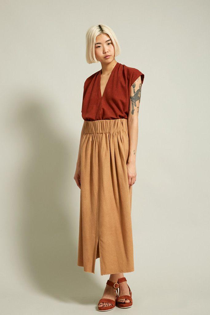 2947bac5e3 Miranda Bennett Paper Bag Skirt in Caramel | My Style Pinboard ...