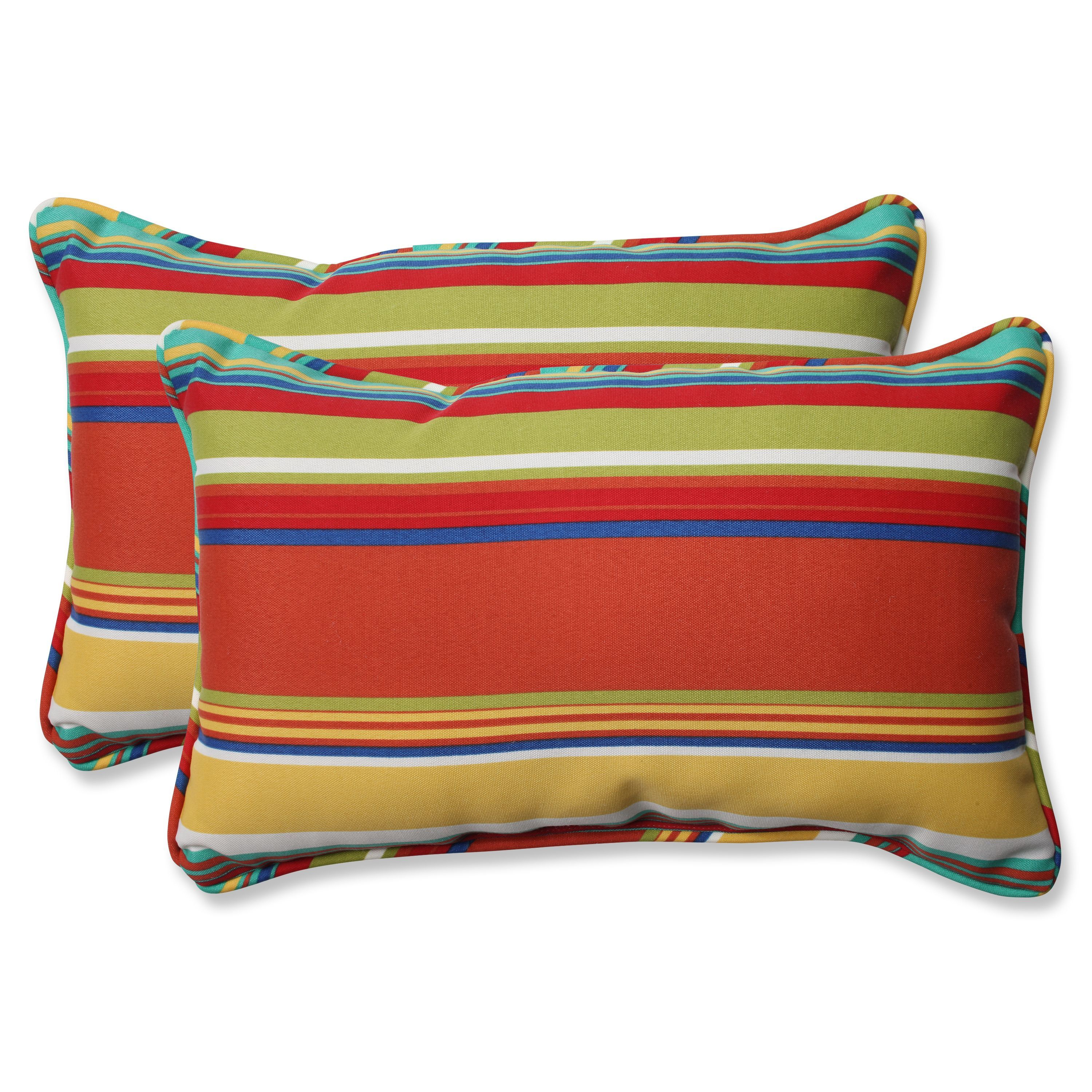Pillow Perfect Outdoor Westport Spring Rectangular Throw Pillow Set