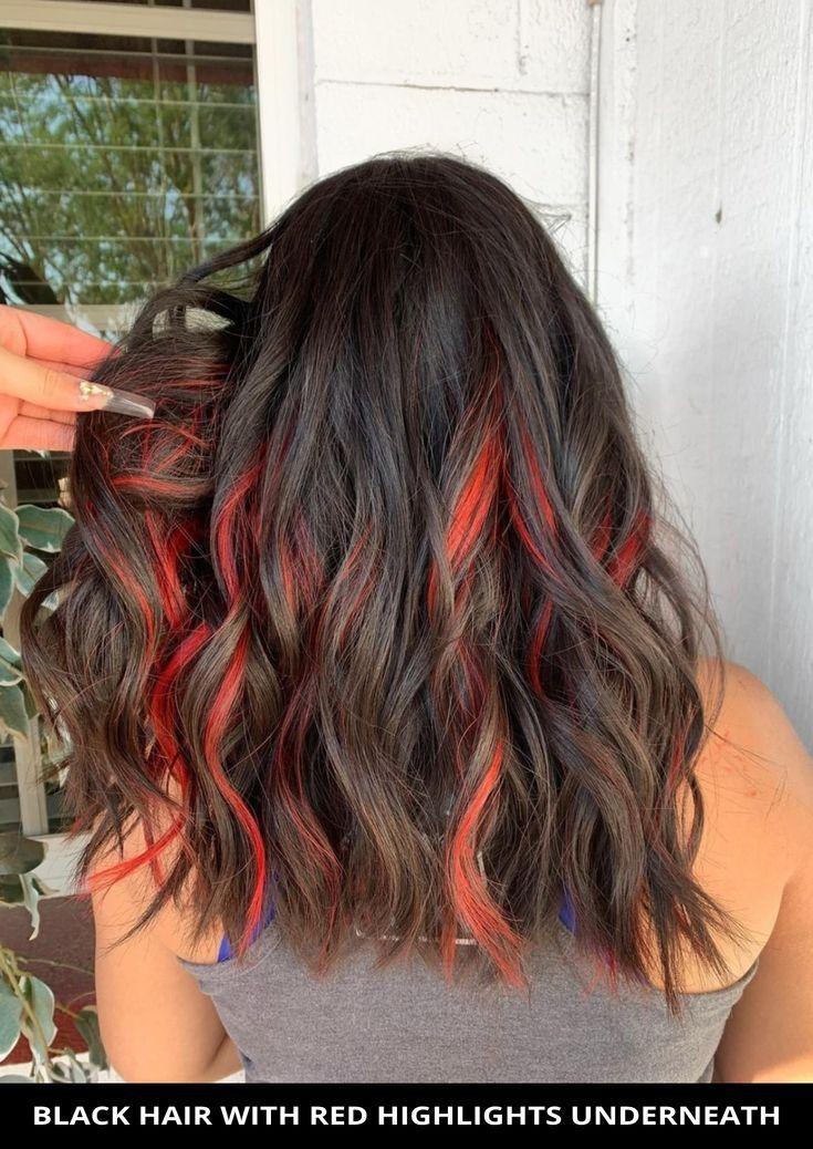 18 Best Black Hair with Red Highlights for Eye-Catching Contrast
