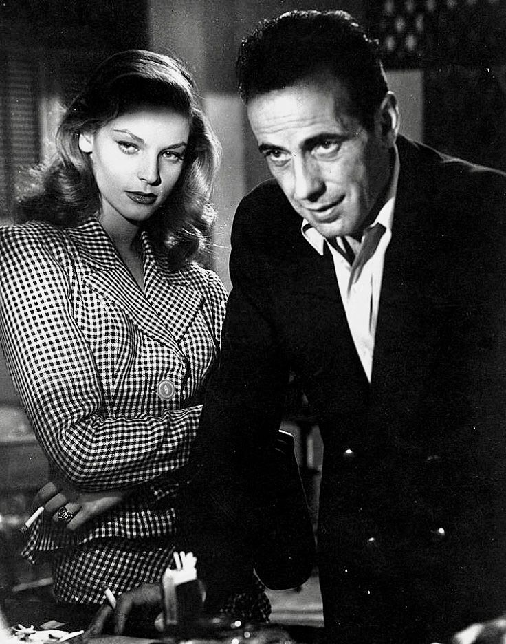 """HUMPHREY BOGART /& LAUREN BACALL /""""TO HAVE AND HAVE NOT/"""" MOVIE STILL GLOSSY PHOTO"""