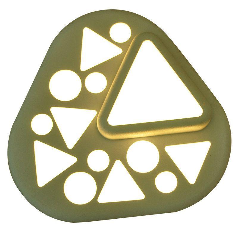 Led Deckenleuchte Modern Abgerundetes Dreieck aus Acryl im - moderne deckenleuchten fur wohnzimmer