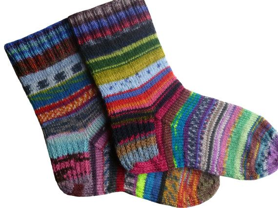 Knitted Socks Hand Knitted Socks Knitted Slippers Natural Socks Hand Knitted Boot Socks Hand Knitted Wool Socks Purple Socks