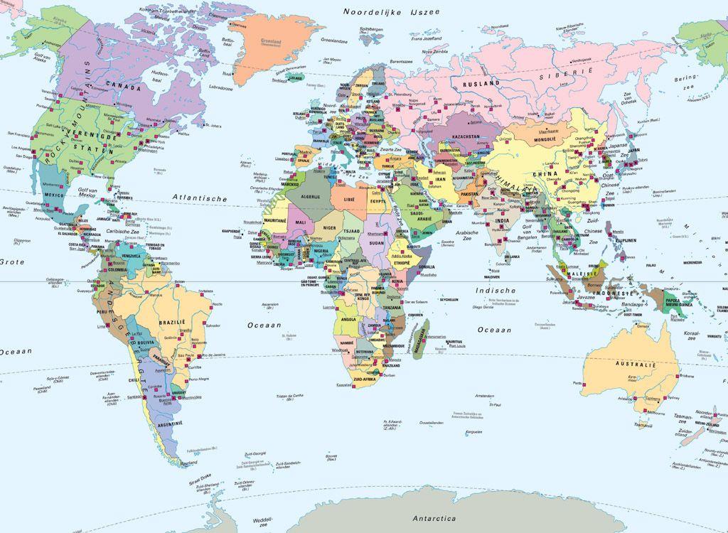 Wereldkaart Van De Hele Wereld Legpuzzel Van 500 Stukjes Wereld