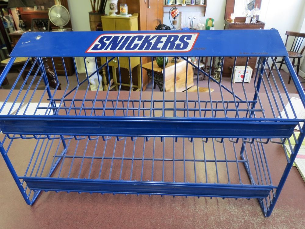 Vintage Snickers Candy Bar Store Counter Display Rack Snickers