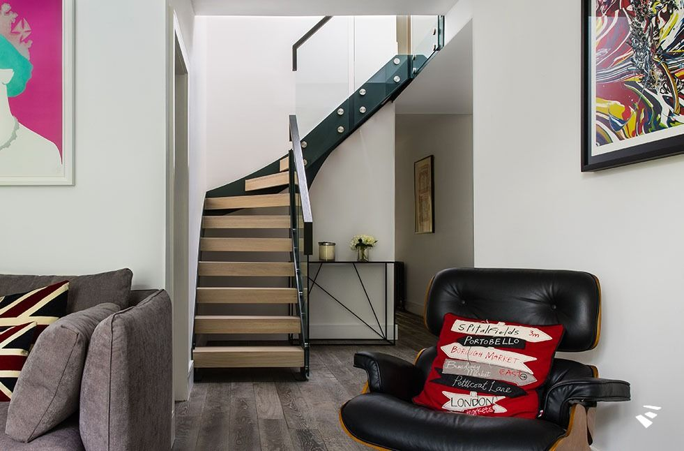 Best Open Steel Grey Oak And Glass Staircase Glass 400 x 300