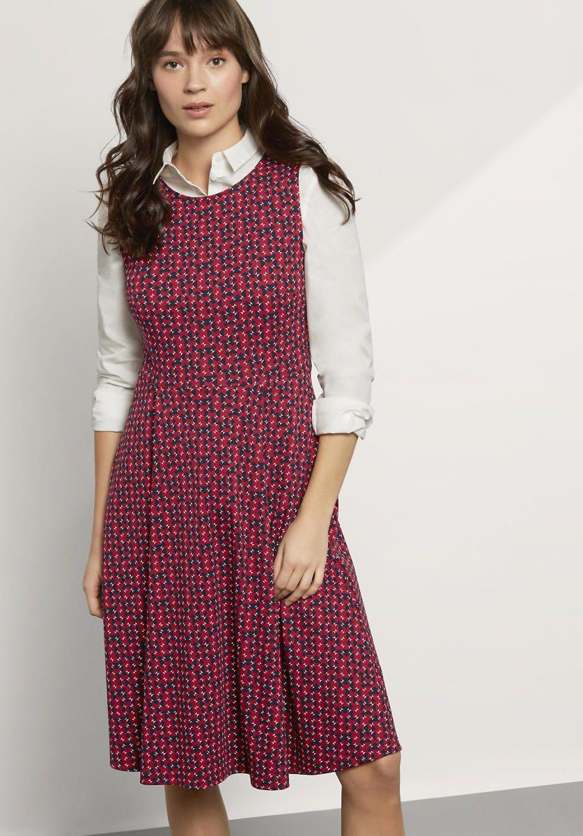 hessnatur damen kleid aus biobaumwolle  rot  größe 34