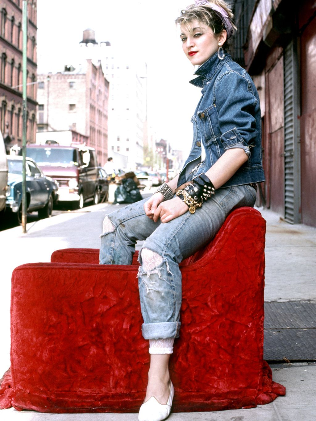 Madonna Working Double Denim Madonna Outfits 80s Fashion Material Girls