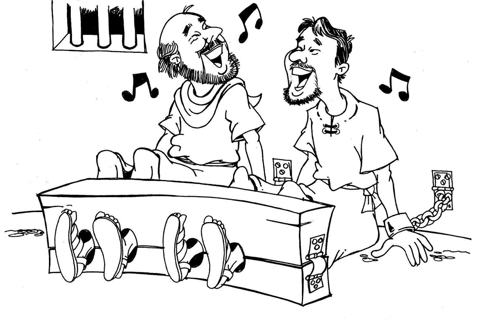 Paulo E Silas Passaram Uma Noite Cantando Em Uma Prisao De Filipos