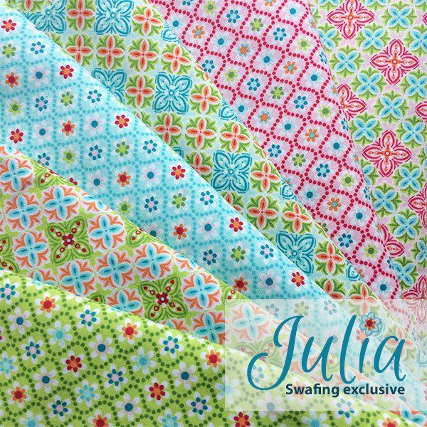 Julia by Swafing - Stoffpaket mit 12 Designs von Der Stoffstand   auf DaWanda.com