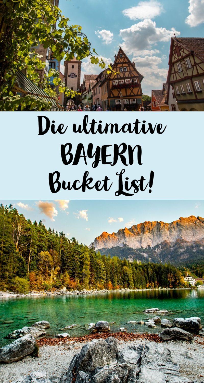 Was musst und solltest du in Bayern unbedingt gesehen und erlebt haben? Hier findest du meine Deutschland Bucket List.   #deutschland #bucketlist #reiseziele #reisen #bayern #ausflugsziele #aktivitäten