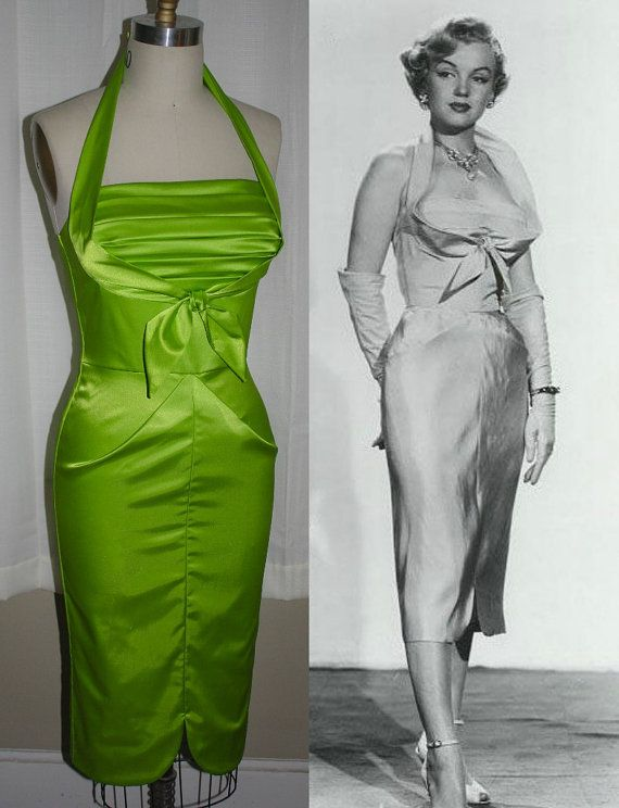 Harriet-Marilyn Monroe Stlye Wiggle Dress by MorningstarPinup