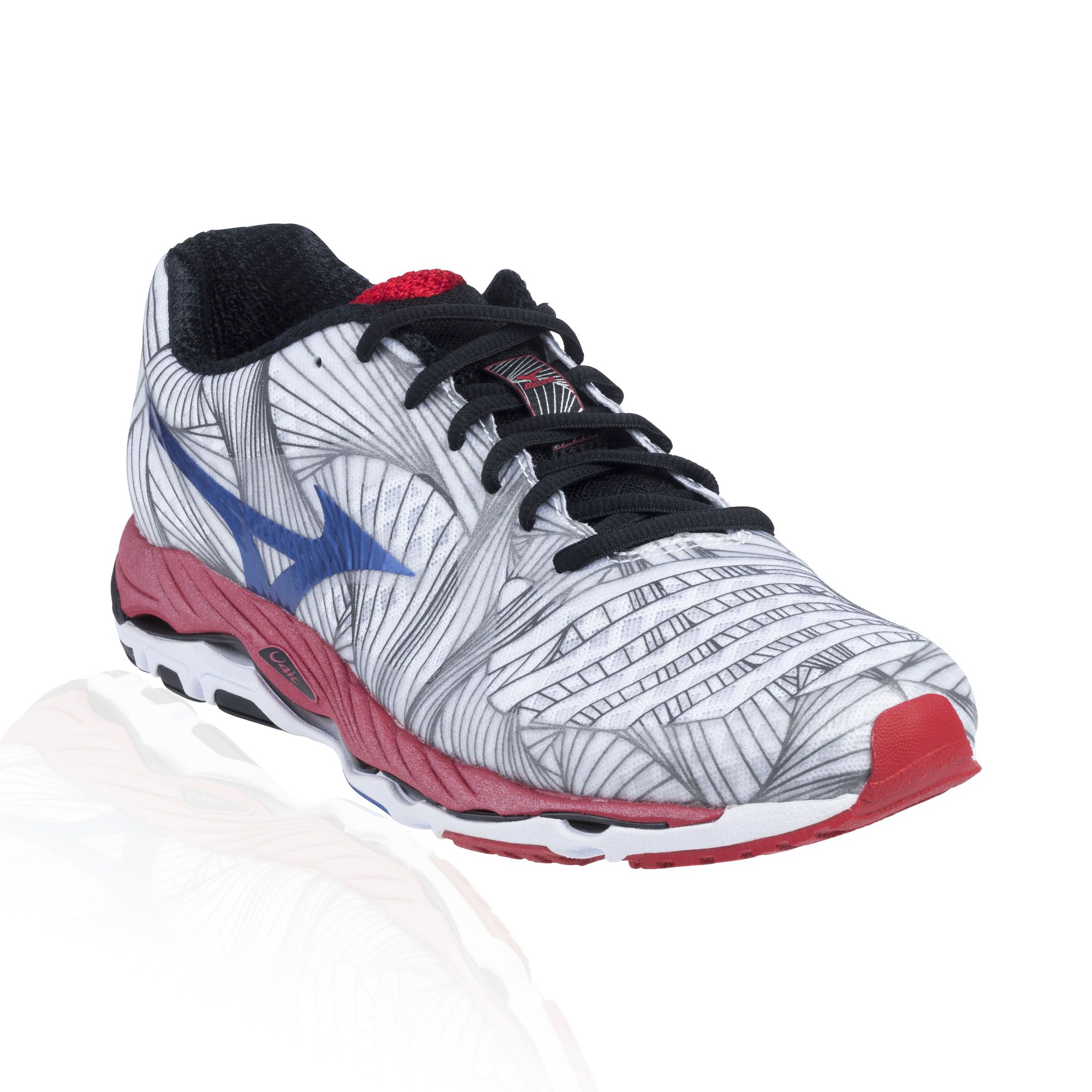 Mizuno Wave Paradox Running Shoe White Olympian Blue Chinese Red