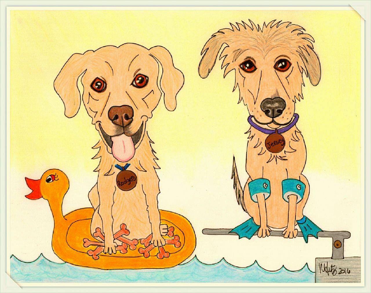 Uncategorized Funny Dog Drawings dog art drawing custom pet portrait caricature cartoon