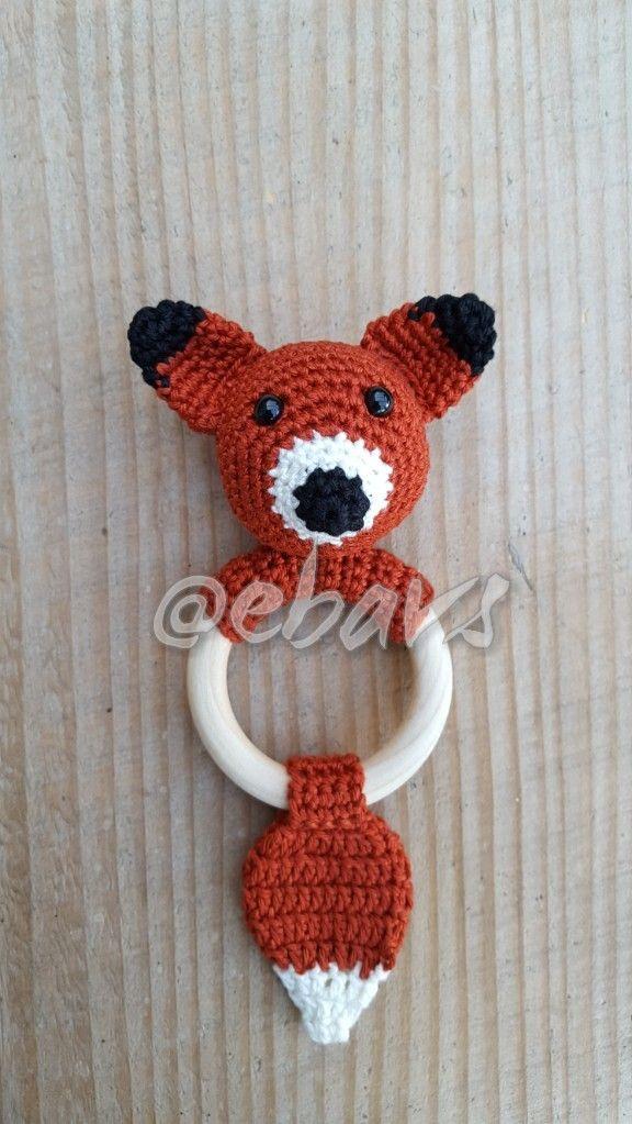 Bijtringrammelaar Vosje Haken Baby Pinterest Crochet