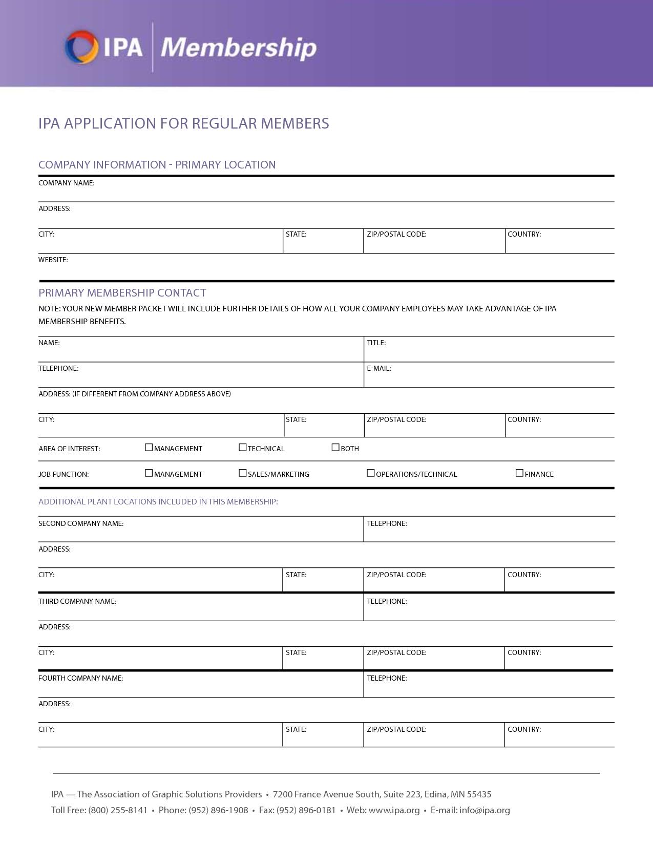 Standard Job Application Form Printable   Job application form. Employment application