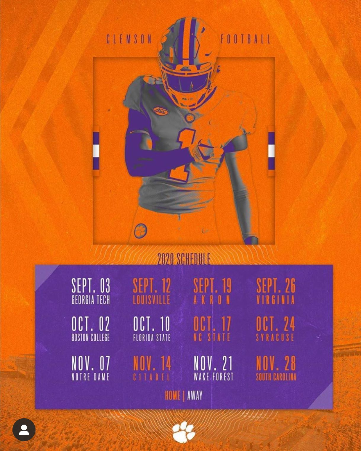 2020 Clemson Football Schedule Is Out In 2020 Clemson Football Schedule Clemson Clemson Football