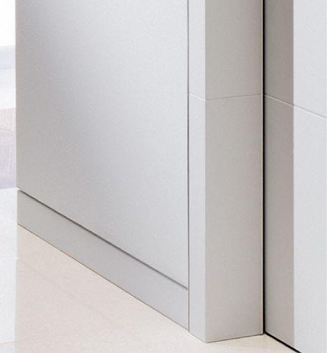 Wandbündige Sockelleisten die lösung für wandbündige tür cube randleiste 9 x 100 mm mit wand