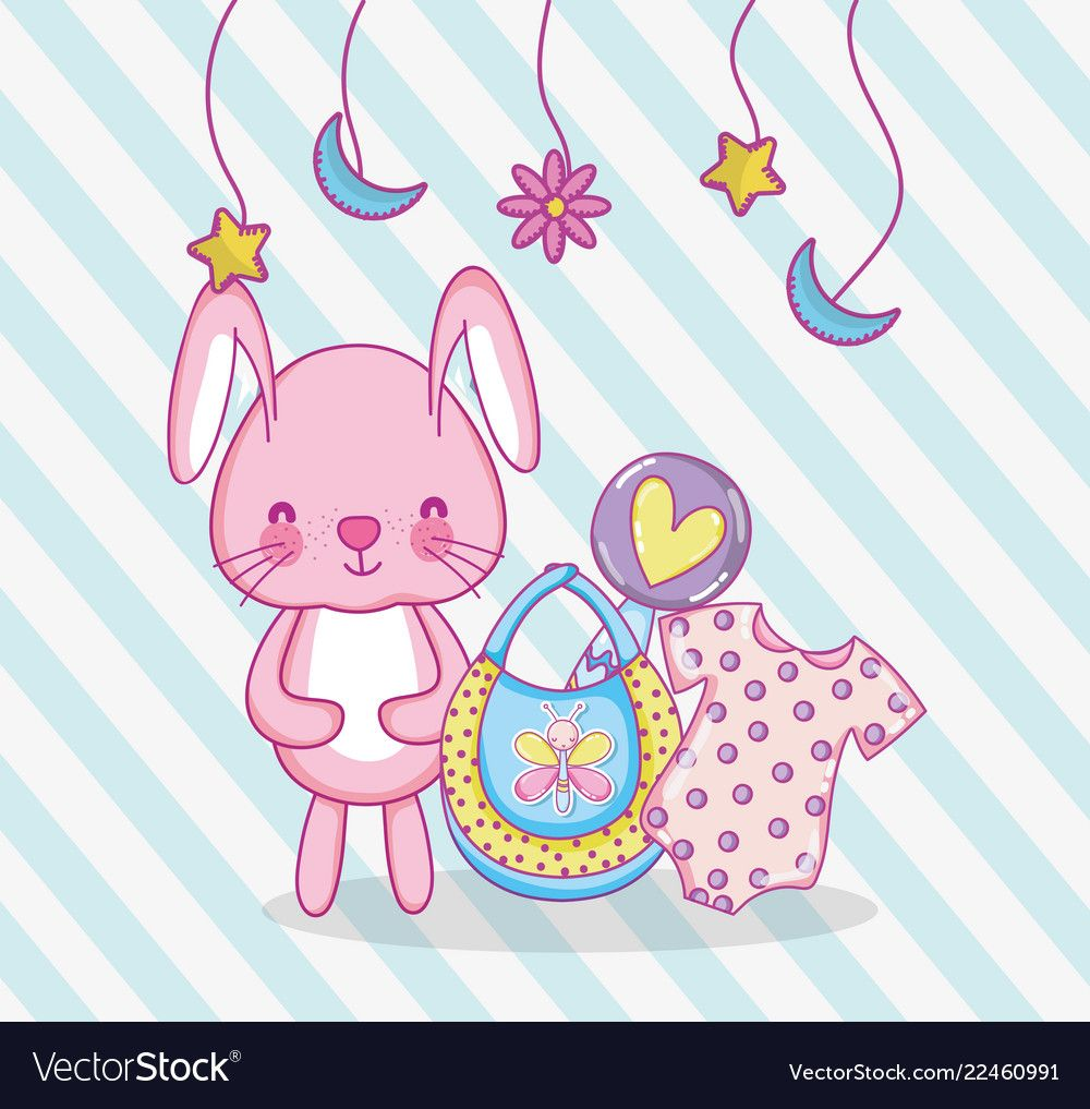 Baby shower cartoons vector image on Cartoons vector