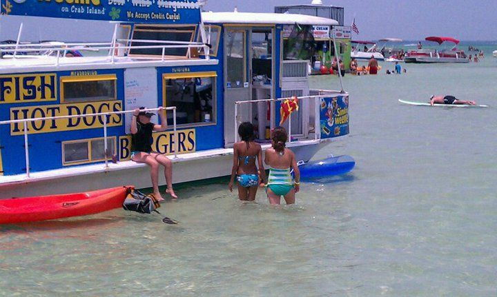 Food boat how to do lunch on the water in destin