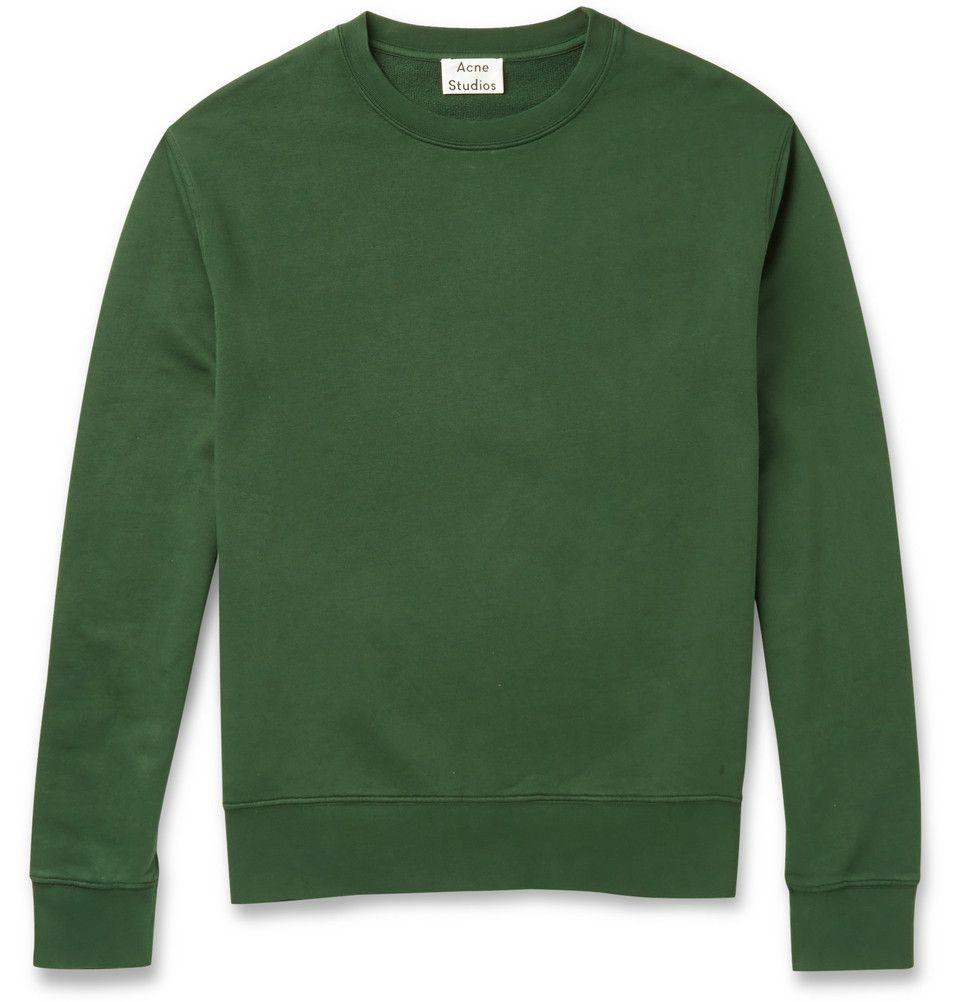 Acne Studios - Casey Loopback Cotton-Blend Sweatshirt